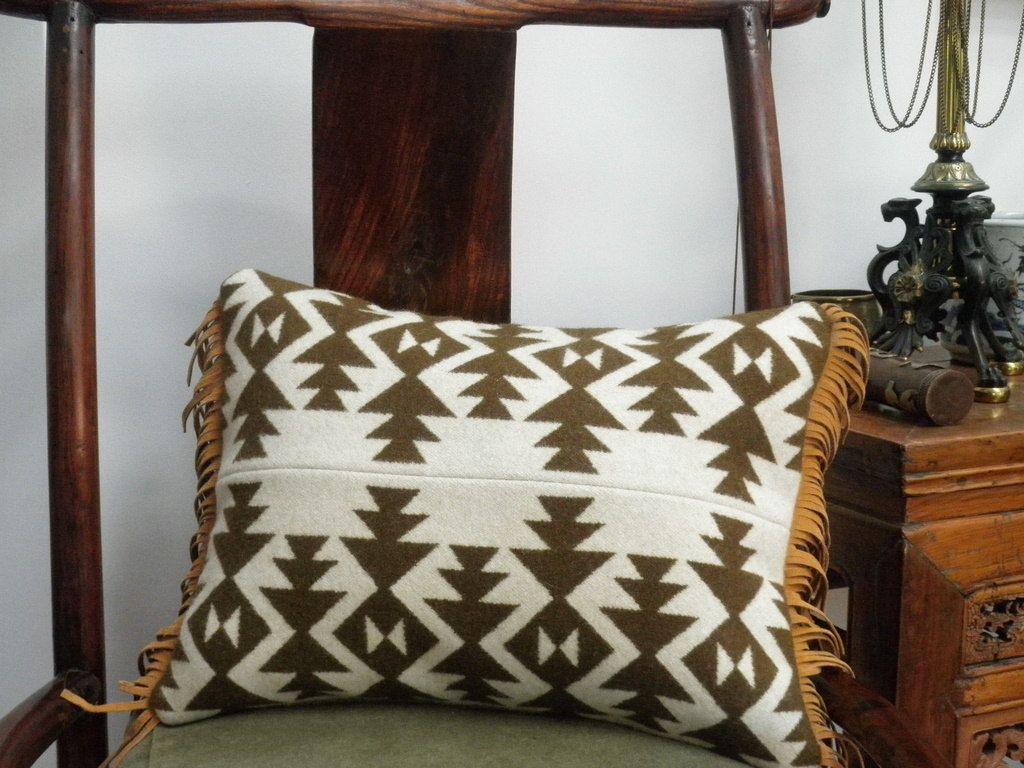Blanket wool pillow, Pendleton Native American , throw pillow ...