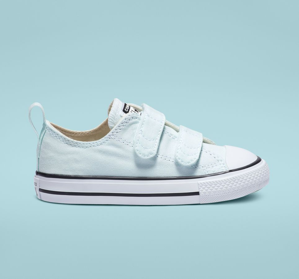 Velcro Teal Tint Low Top Baby Shoe