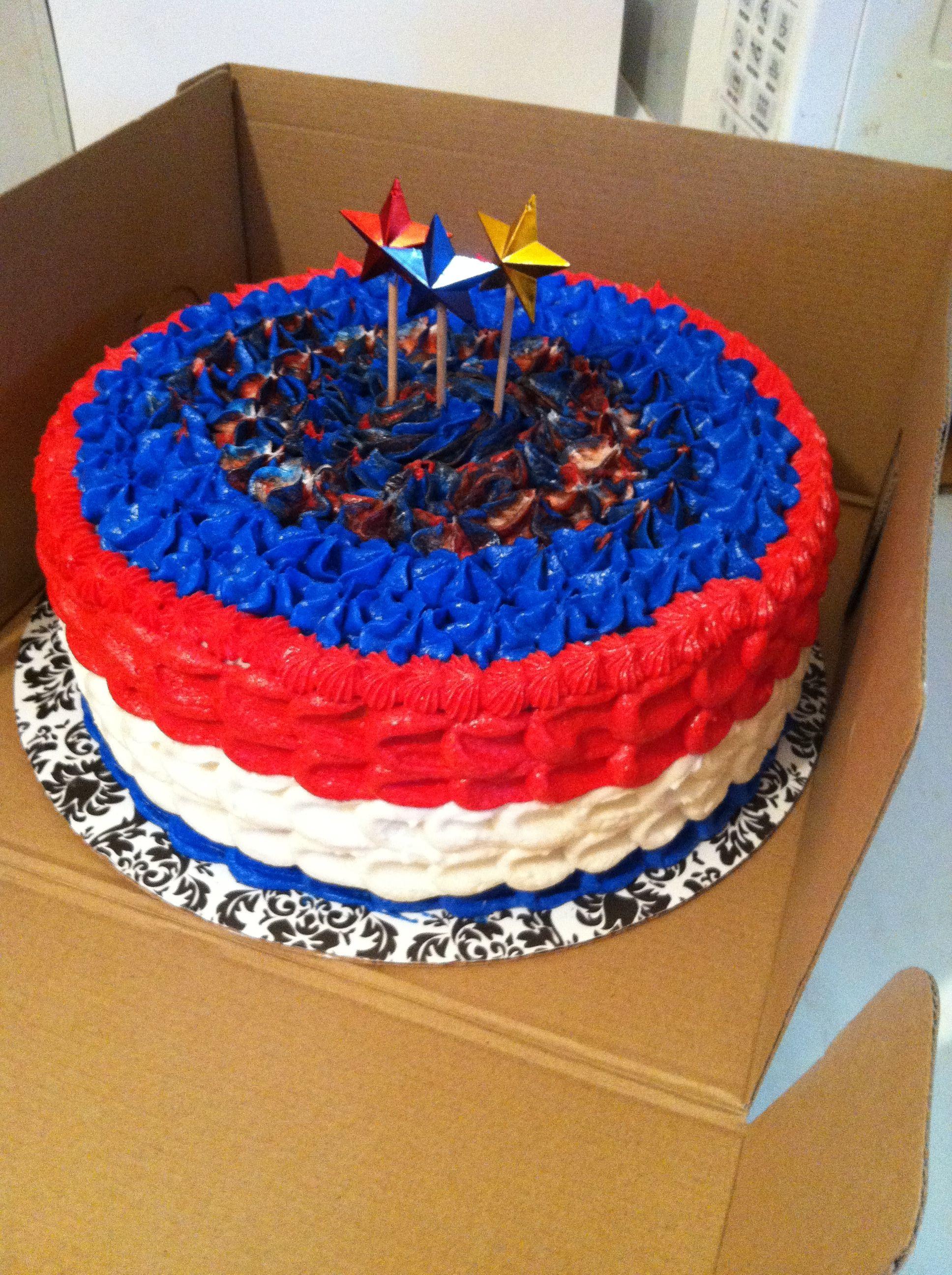 4th Of July Birthday Cake Cakes Pinterest Best July Birthday