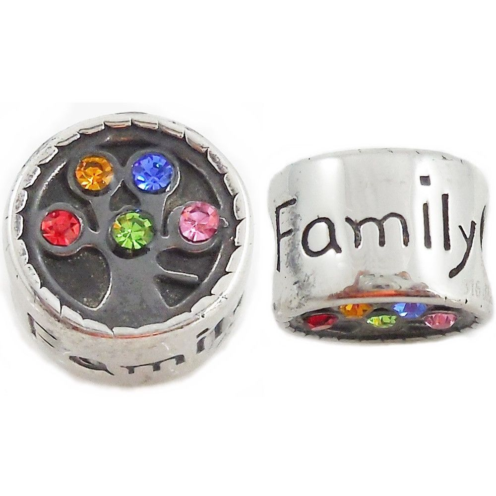 Stainless Steel Family Tree Charm