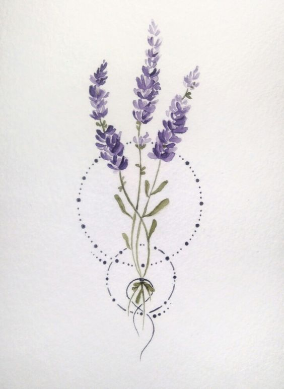 Top 10 Lavender Tattoos Ideas 2019 Beautytatoos In 2020 Tattoo Design Drawings Lavender Tattoo Flower Drawing