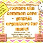 45 Kid-Friendly and cute graphic organizers to help K - 2 students master the higher order thinking required by the Common Core State Standards.  M...