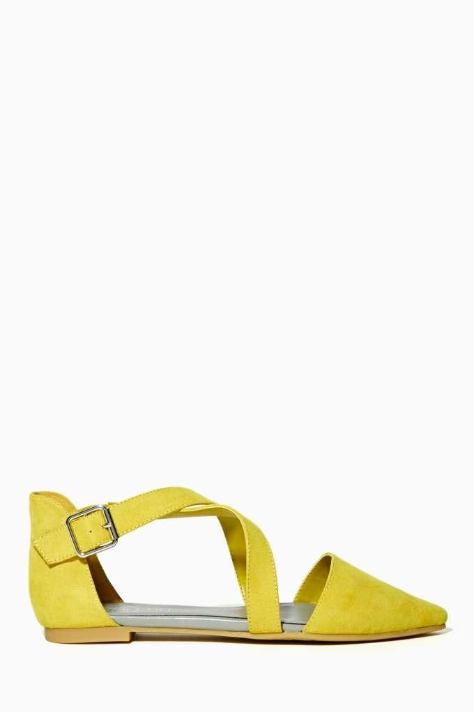 Shoe Cult Viper Flat - Yellow