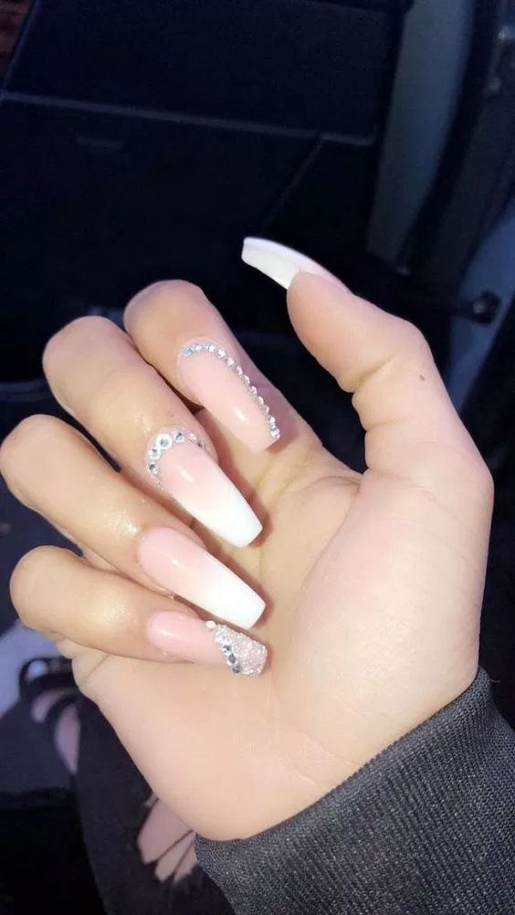 39 Birthday Nails Art Design That Make Your Queen Style Nails Design With Rhinestones Prom Nails Birthday Nails