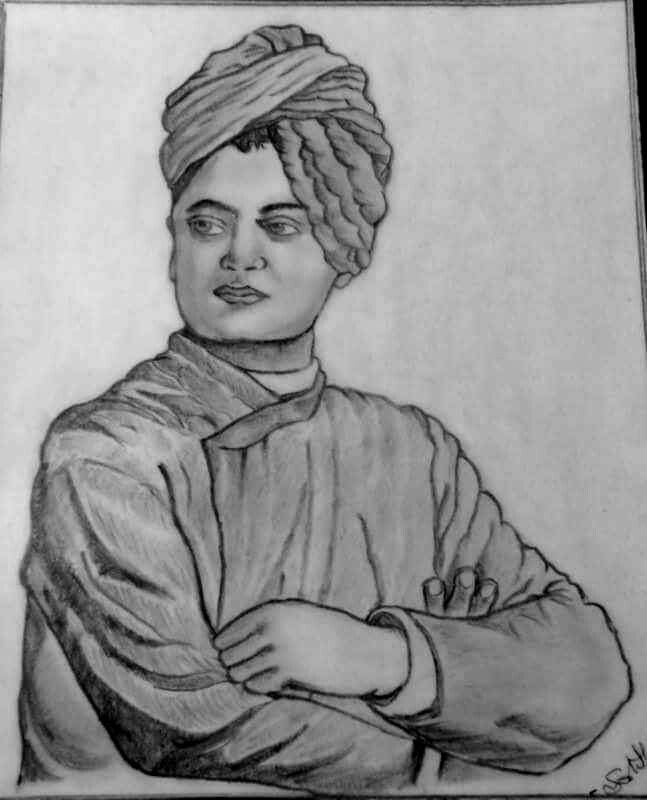 My Pencil sketch of Swami Vivekananda