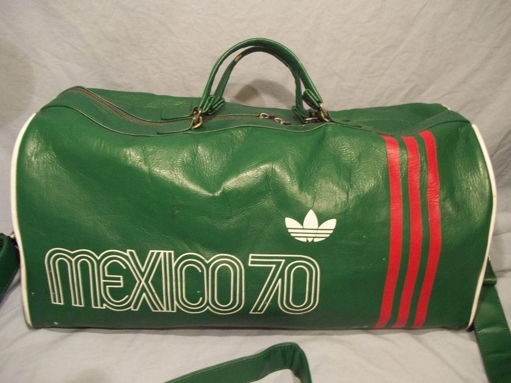 Adidas FIFA 9th IX World Cup Soccer Mexico 1970 Duffle Gym Bag Green  adidas   Mexico 057c107082115