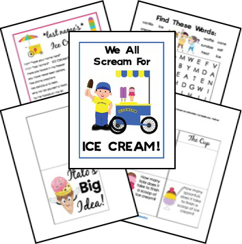 Free Icecream Unit Study and Printable Lapbook | Ice cream ...