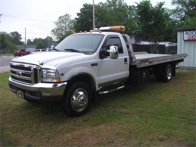 1999 Ford F550 Rollback Cab Flatbed Towing Tow Truck Trucks