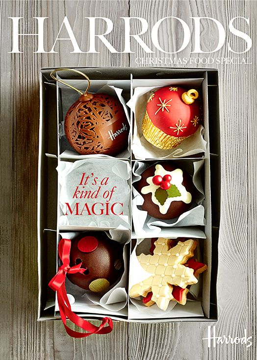 Christmas cover shoot for Harrods magazine. Food styling by Emma Marsden. Prop styling Jennifer Kay. Photo by Mowie Kay.