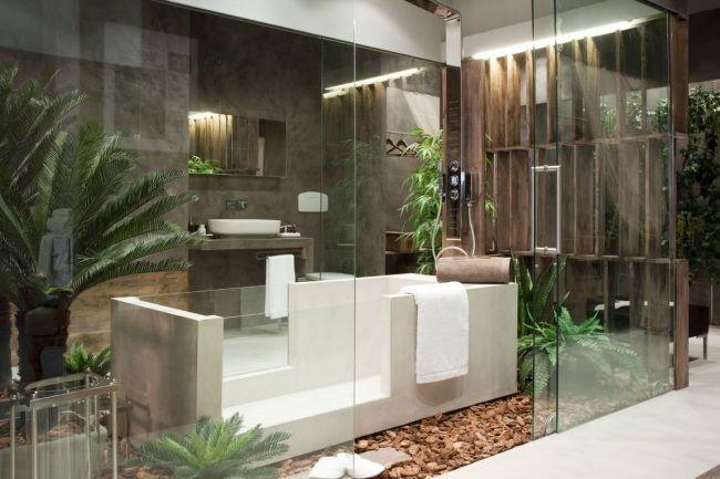 badezimmer glaswände garten eden modernes designer ...