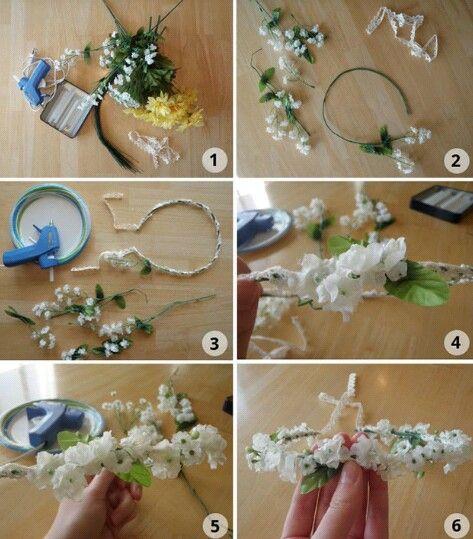 Diy Flower Crown easy 5steps