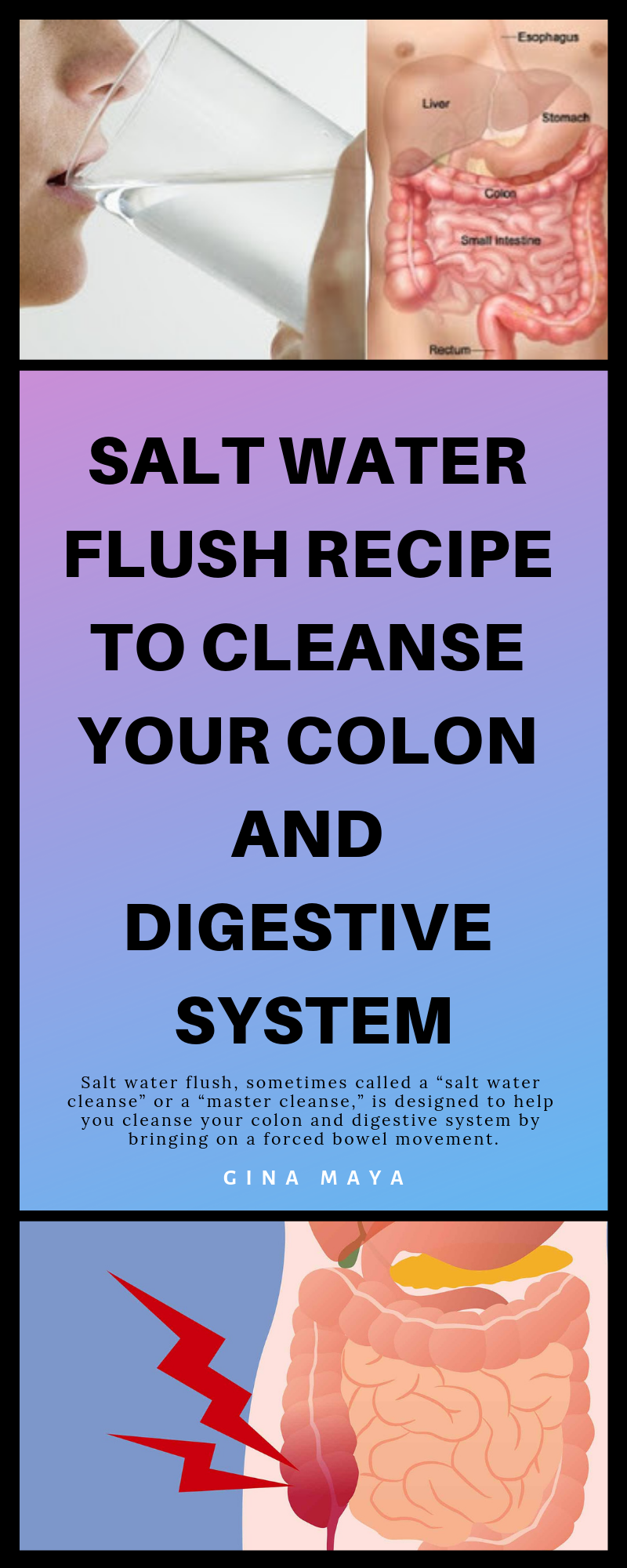 Salt Water Flush Recipe to Cleanse Your Colon and Digestive System