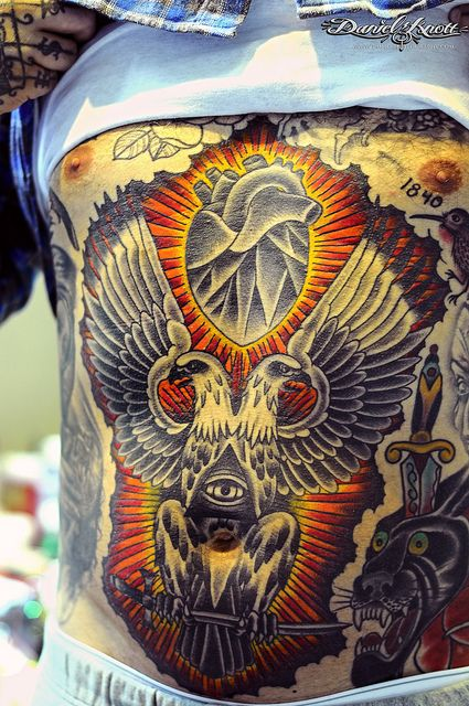 Stomach tattoo by oliver peck oliver peck tattoos for Peck tattoos for guys