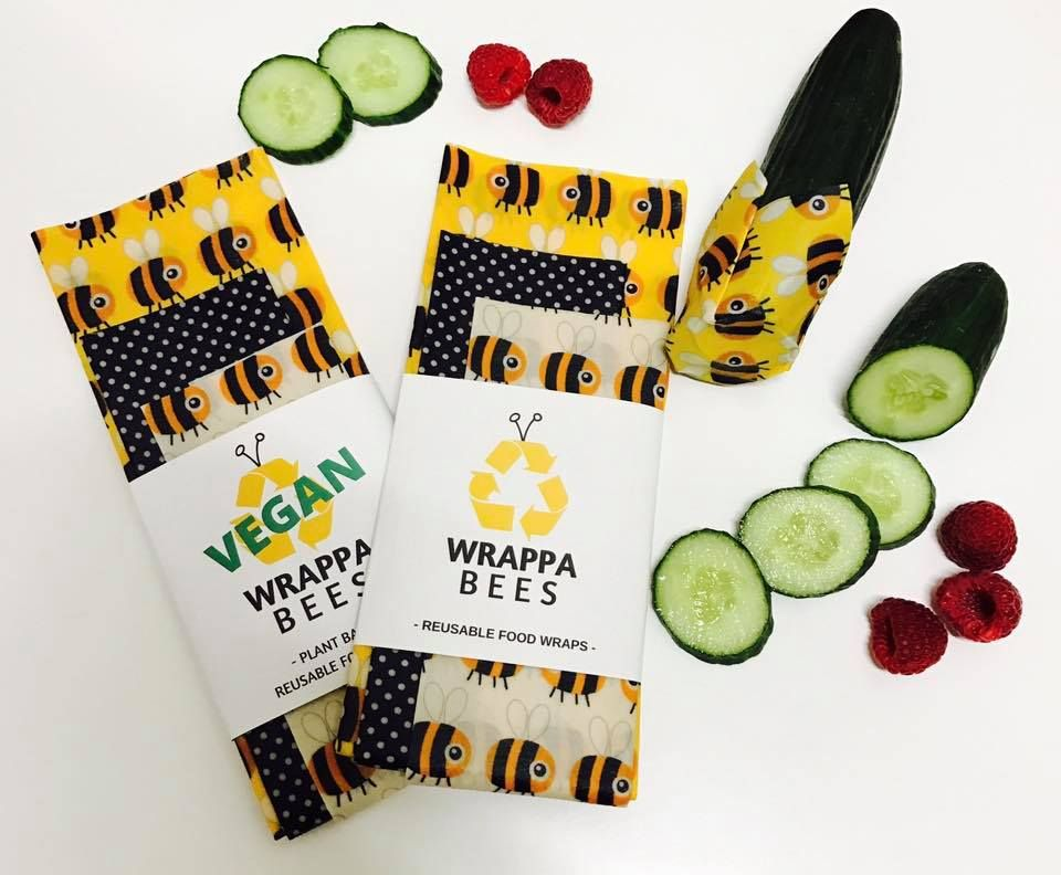 Bumble Wraps – Beeswax OR Vegan Three Pack | Wrappa Bees