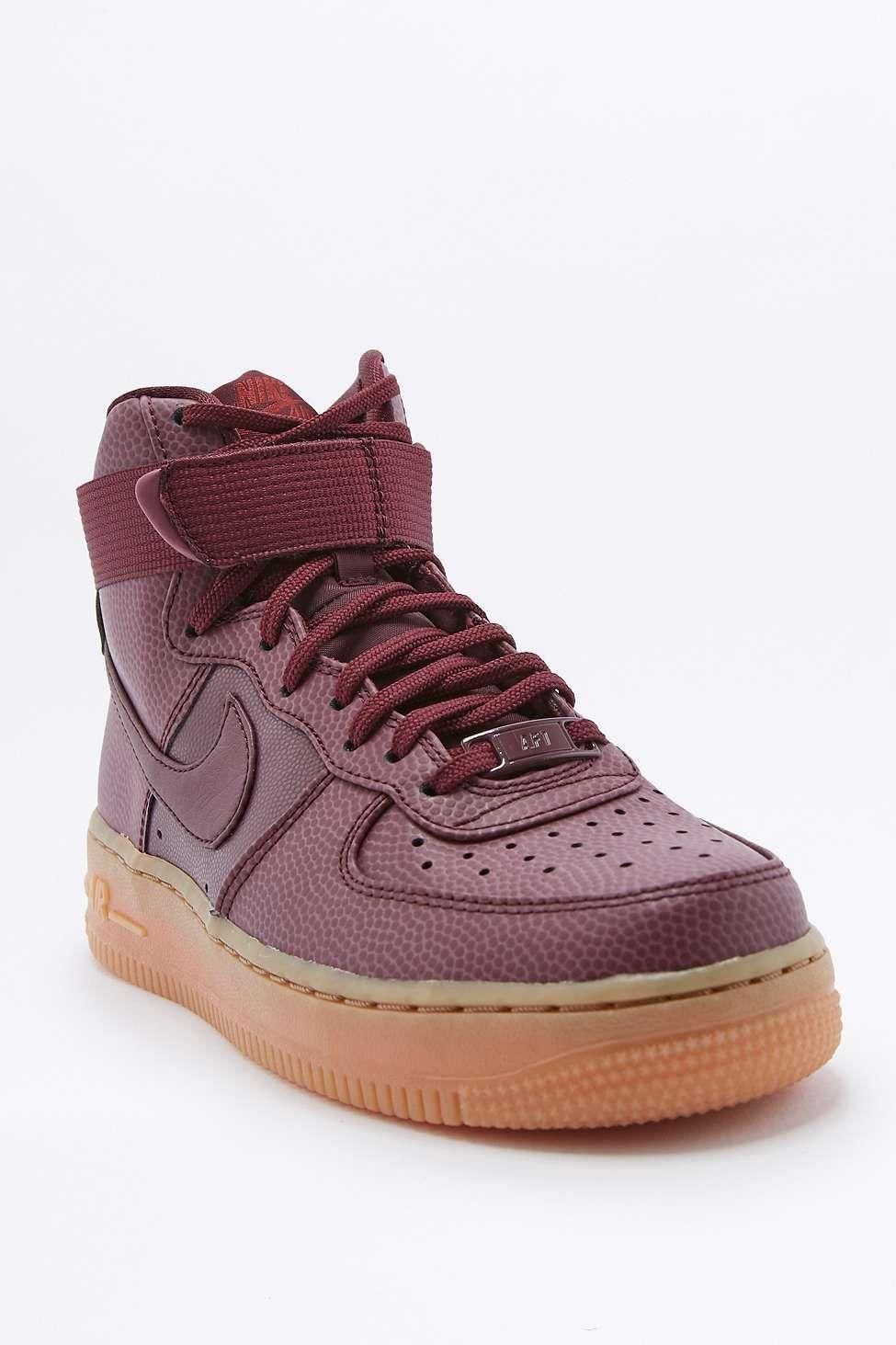 competitive price 249a2 1c3d7 Nike - Baskets Air Force 1 montantes avec semelle en crêpe bordeaux