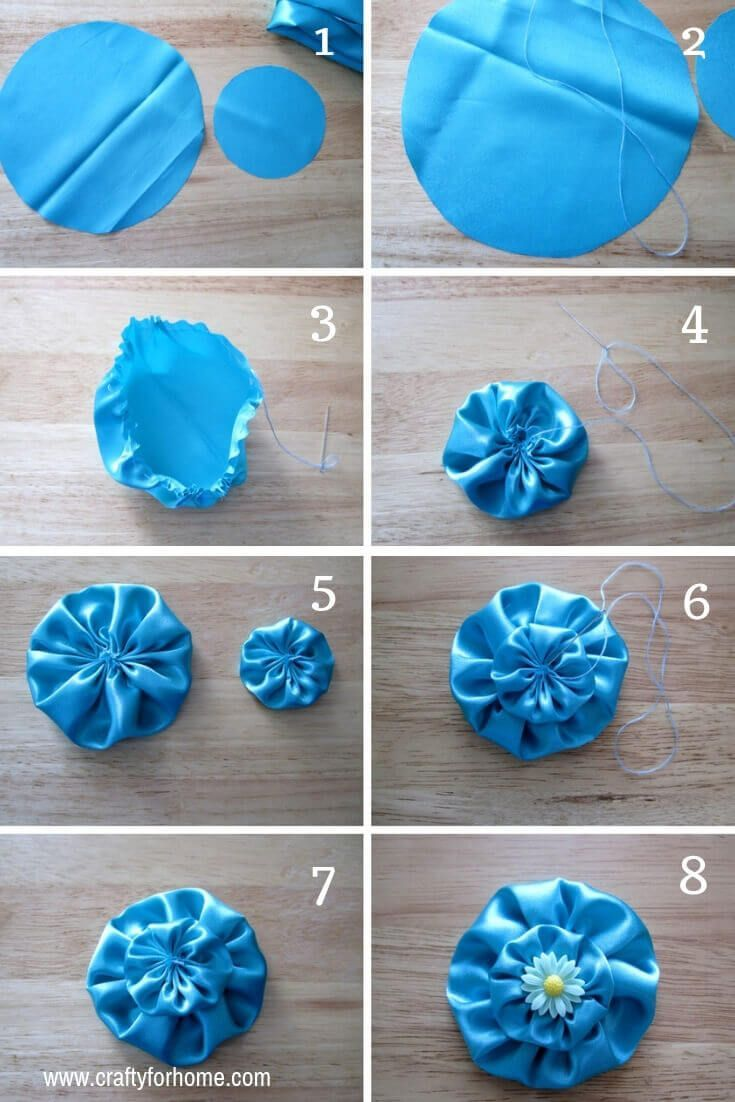 4 einfache Möglichkeiten, Stoffblumen zu machen #flowerfabric