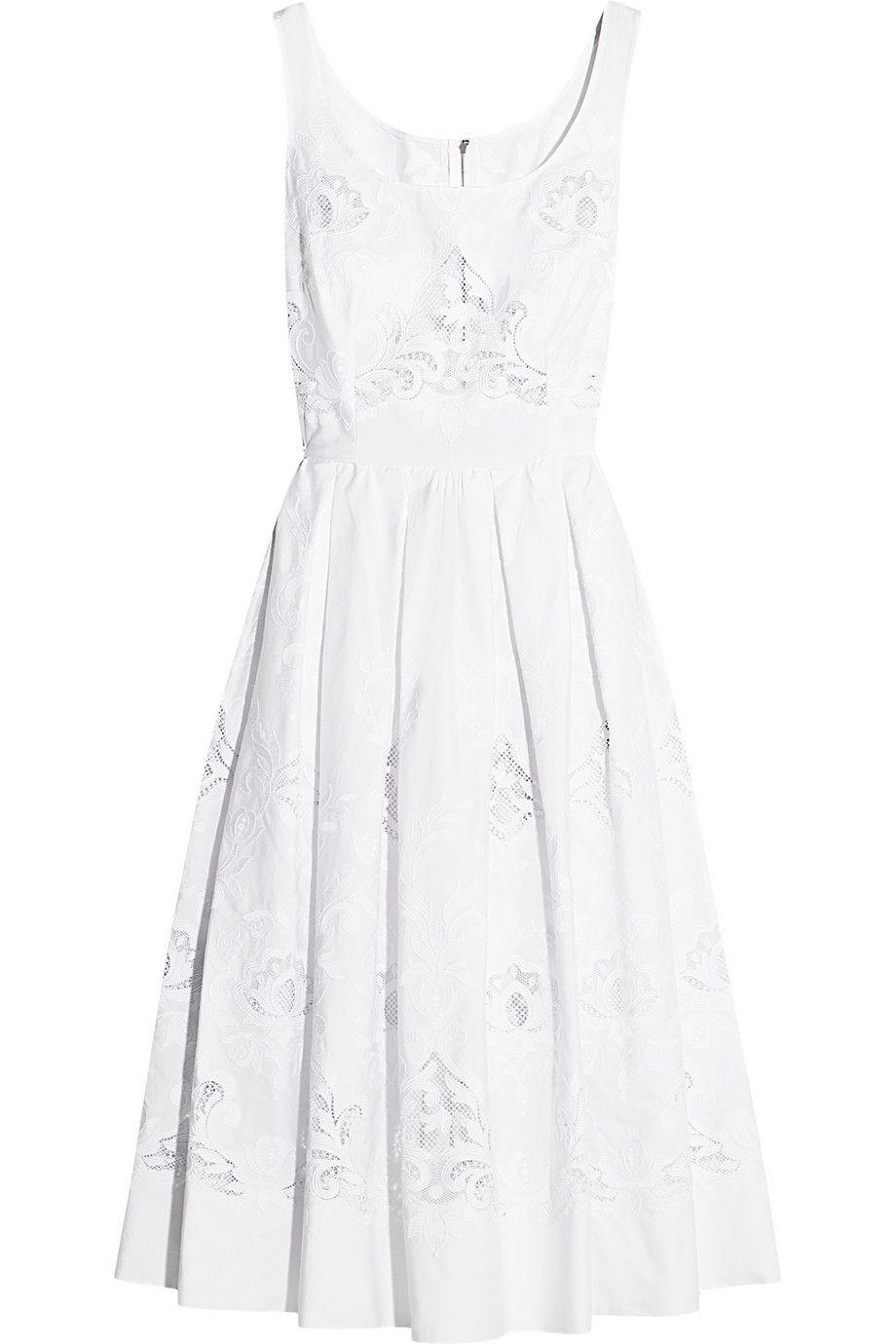 3a43f07e82b9 DOLCE   GABBANA Broderie anglaise cotton-blend dress