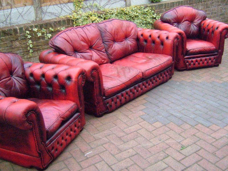 Retro Cream Modular Corner Chaise Leather Lounge Suite Sofa Couch ...