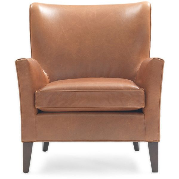 Awesome Mitchell Gold + Bob Williams Emmet Leather Chair ($3,009) ❤ Liked On  Polyvore Featuring