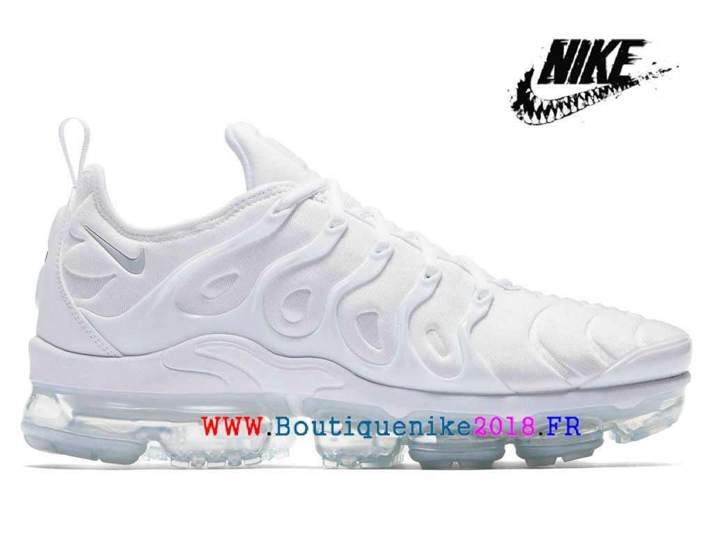 83822b8b6b082 Nike Air VaporMax Plus Unisex Chaussures Pas Cher Price Pour Homme Triple  White 924453-100