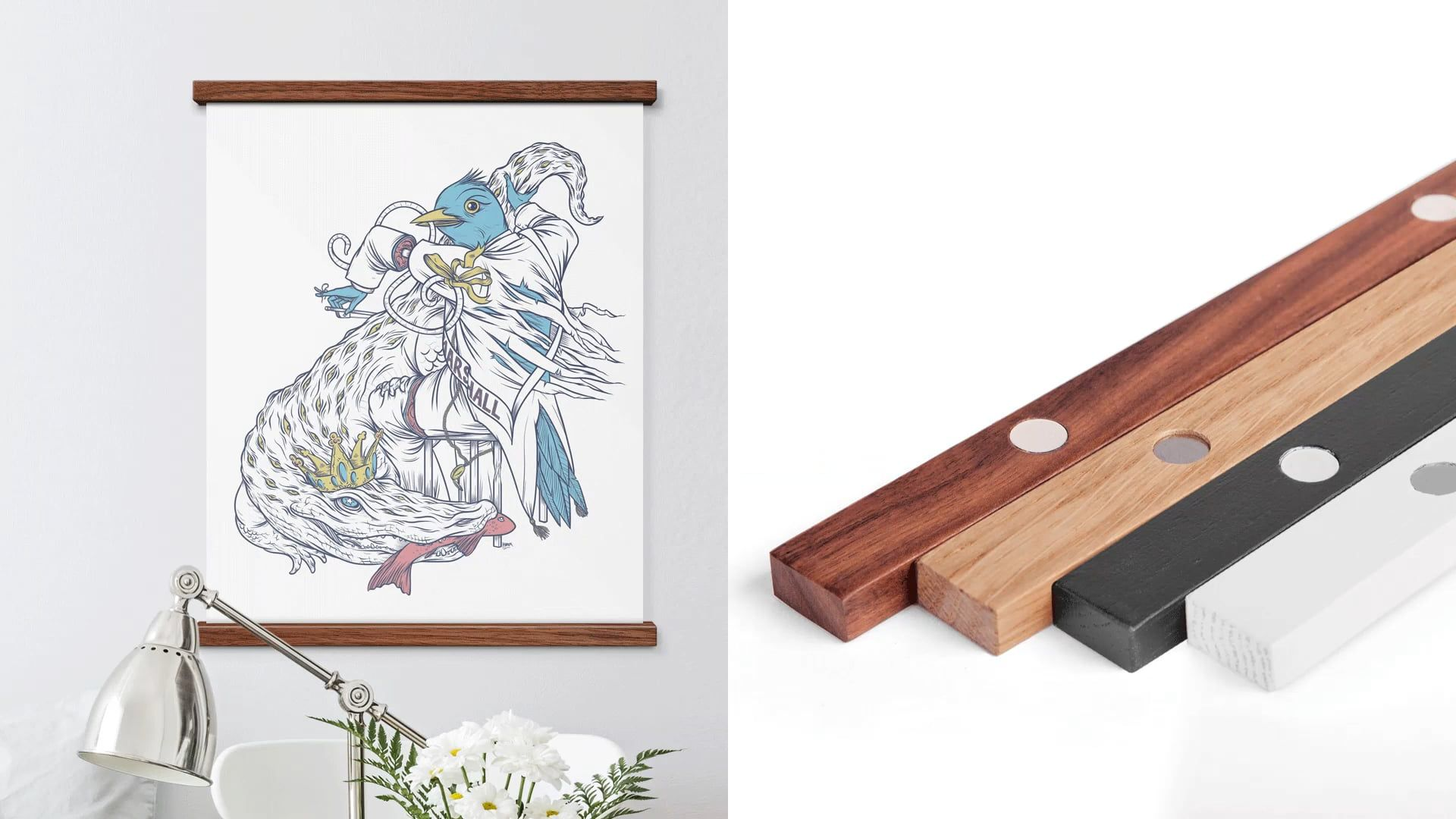 Poster Hangers Solid Wood 좋은 아이디어, 아이디어