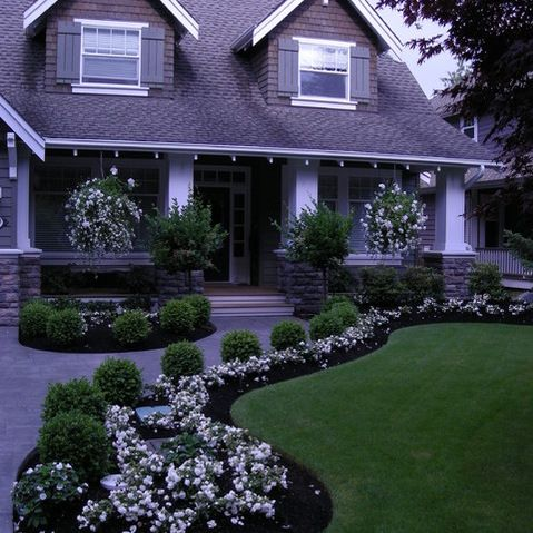 Front Yard Landscape Design Ideas, Pictures, Remodel and ... on Front Yard Renovation Ideas id=85513