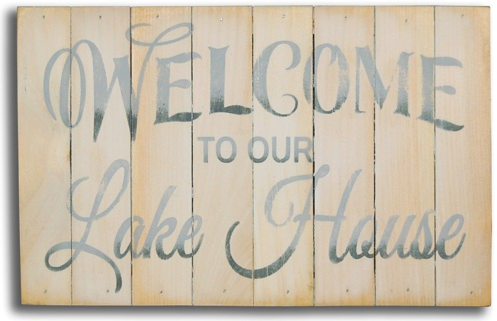 Welcome To Our Lake House Sign Lakes Beach And Summer - 8 cool diy whitewashed signs for decor
