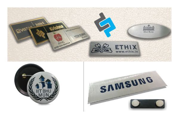 magnetic name badges printing in delhi chest badges printing india