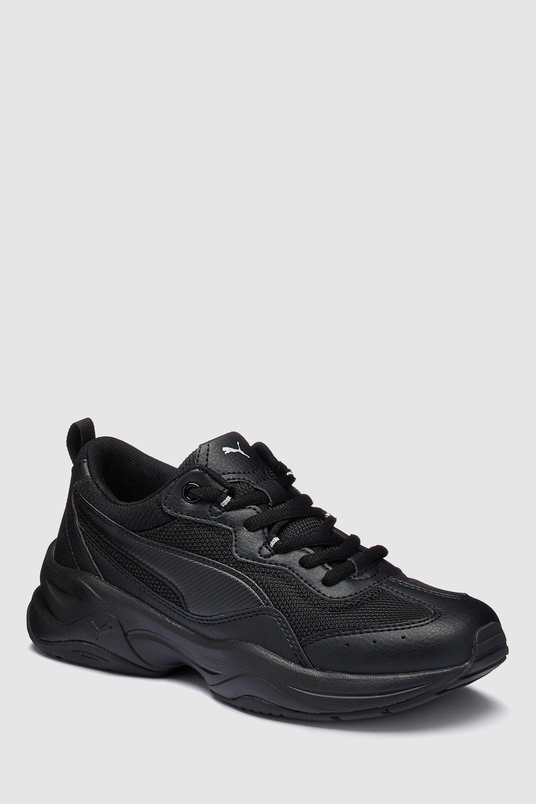 Womens Puma Cilia Trainer Black | All black sneakers, Puma