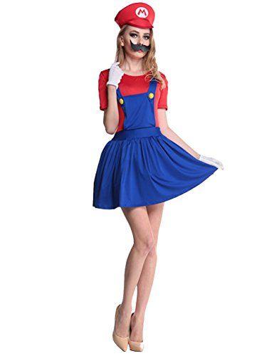 damen super mario kost m zu karneval halloween fasching ca 18 karneval pinterest. Black Bedroom Furniture Sets. Home Design Ideas