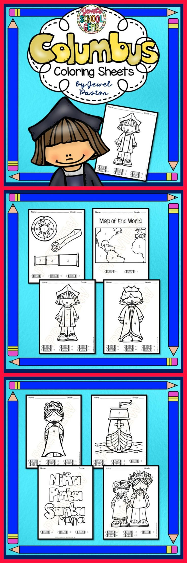 Christopher Columbus Day Activities Christopher Columbus Color By