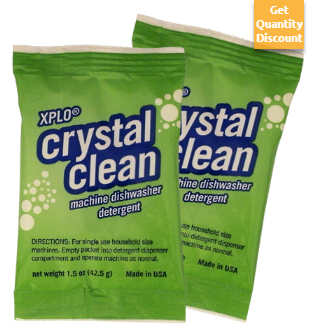 1 5 Oz Crystal Clean Machine Dishwasher Detergent Pak Dishwasher