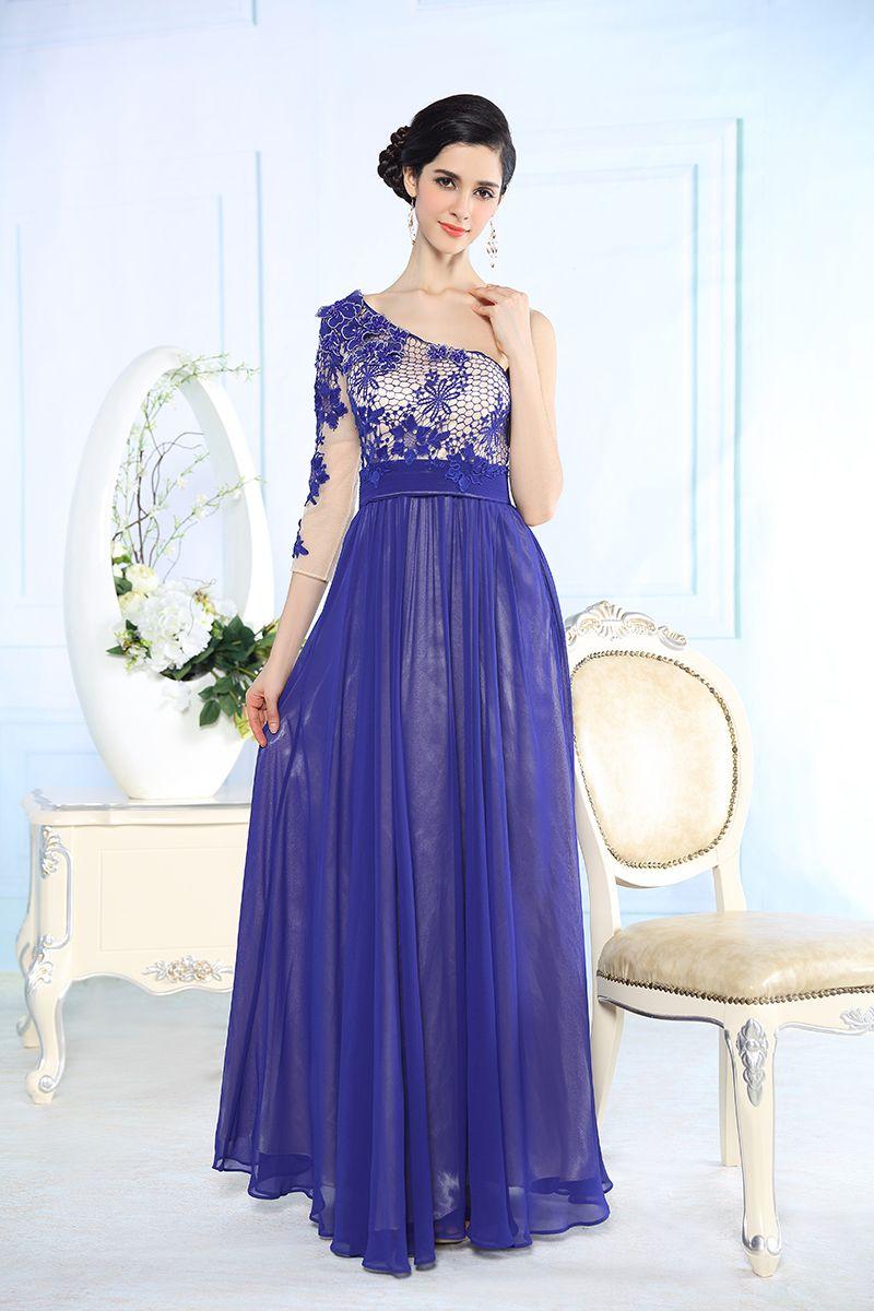 Бальное платье с одним рукавом