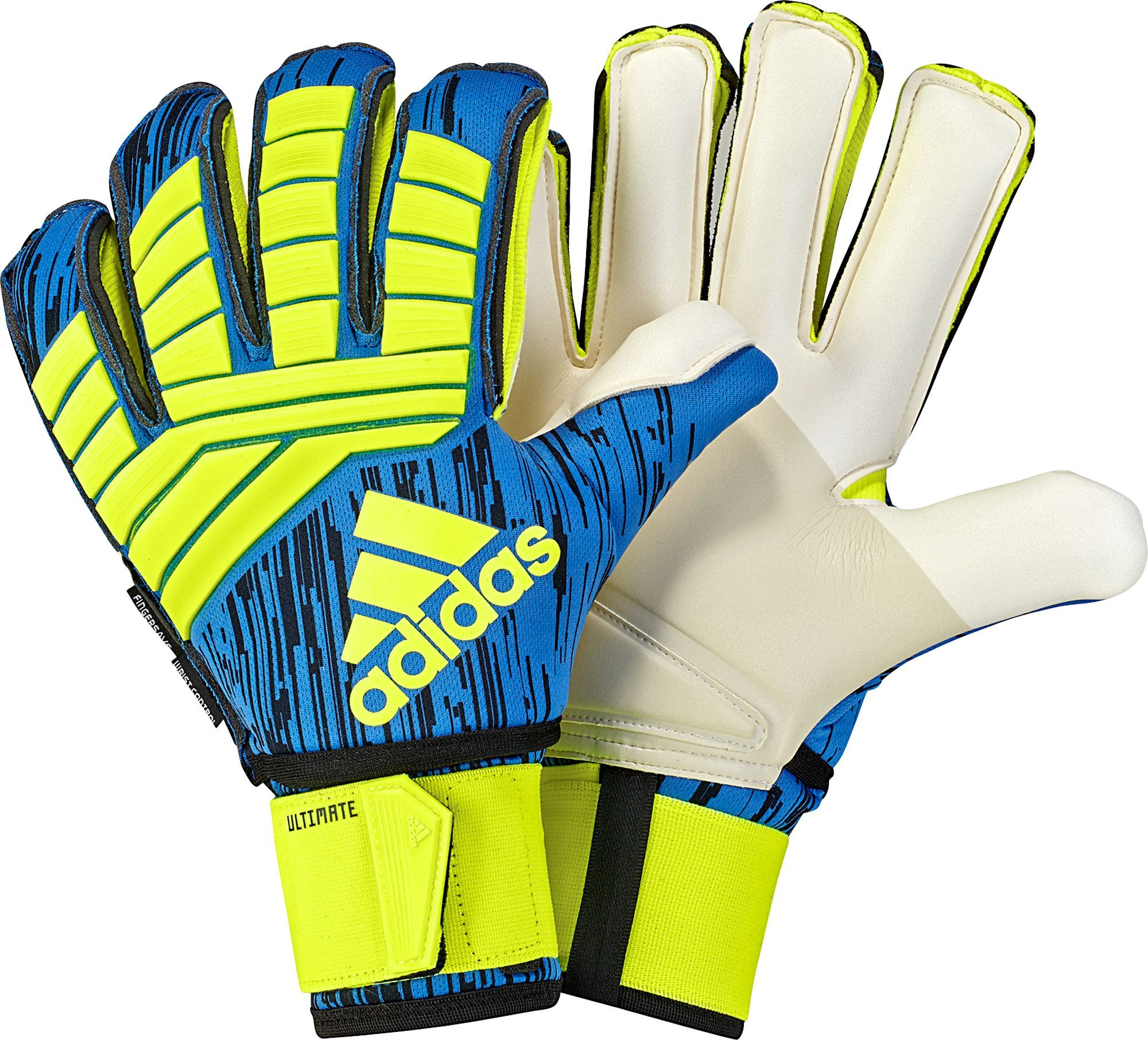 f3026e475fa adidas Adult Predator Ultimate Soccer Goalkeeper Gloves, Yellow/Black/Blue