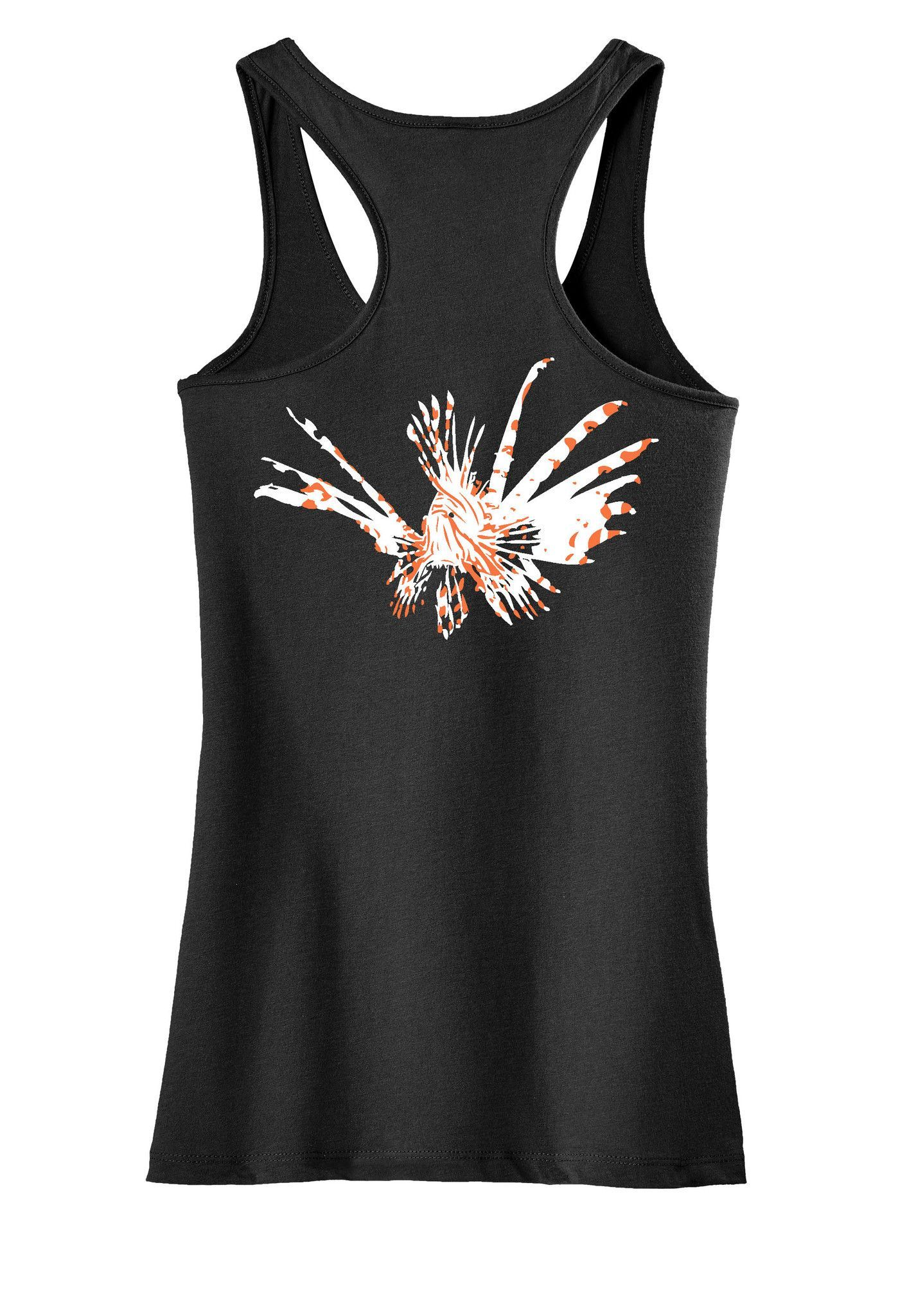 e07f734502368 Ladies Lionfish Racerback Tanks | Products | Fishing shorts ...