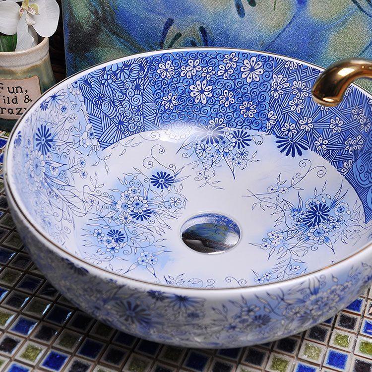 Ceramic Art Basin Sinks Counter Top