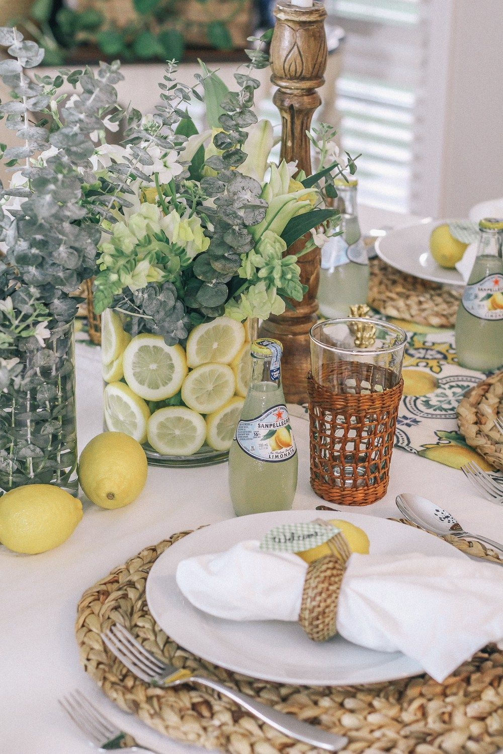 Lemon Dinner Party With Decor Tips Table Setting Ideas And A