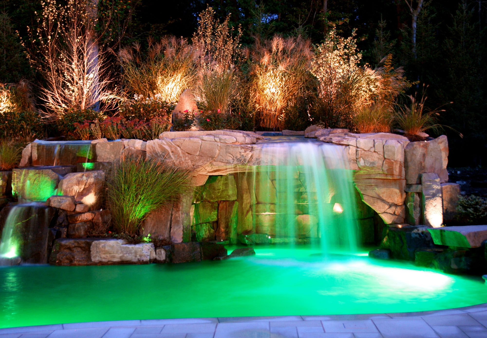 Pool With Grotto Google Images Pool Waterfall Swimming Pool Waterfall Swimming Pools Backyard