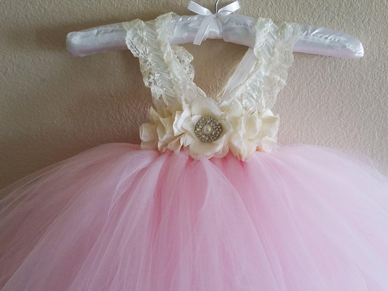 Blush pink girl dress  Blush Pink Baby Christening Dress  Baby Confirmation Dress Baby