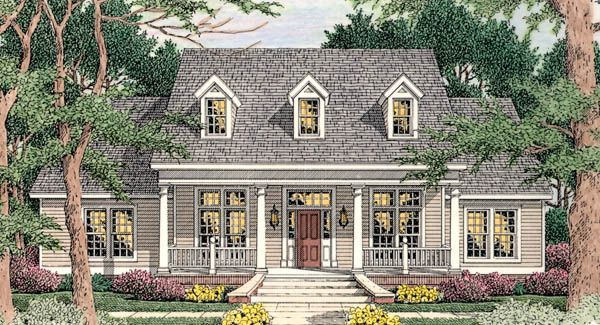 House Plan 59139 Country European Traditional Plan with 2000 Sq