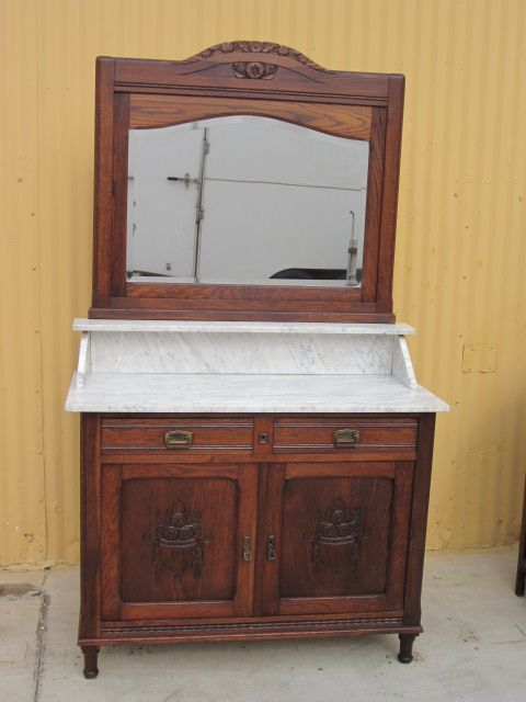 French Antique Dresser Washstand Commode Furniture