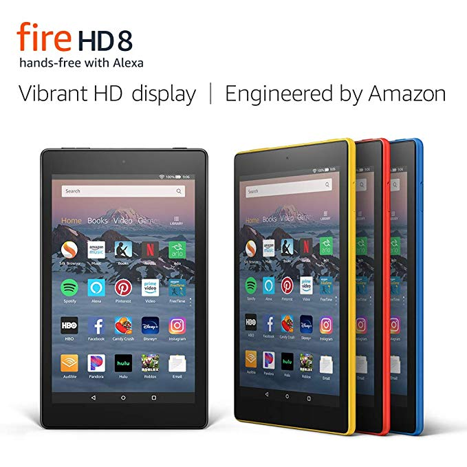 Amazon Com Fire Hd 8 Tablet Up To 10 Hours Of Battery Vibrant Hd Display Hands Free With Alexa Tablet Amazon Fire Tablet Kindle Fire Hd