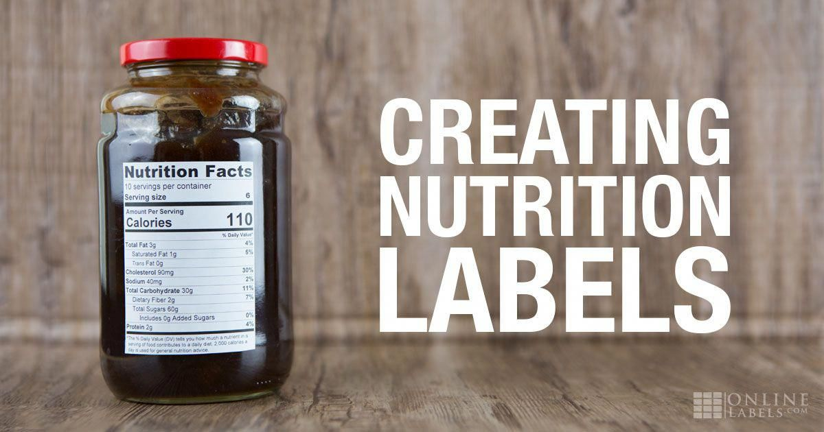 creating nutrition fact labels for your products vitamin