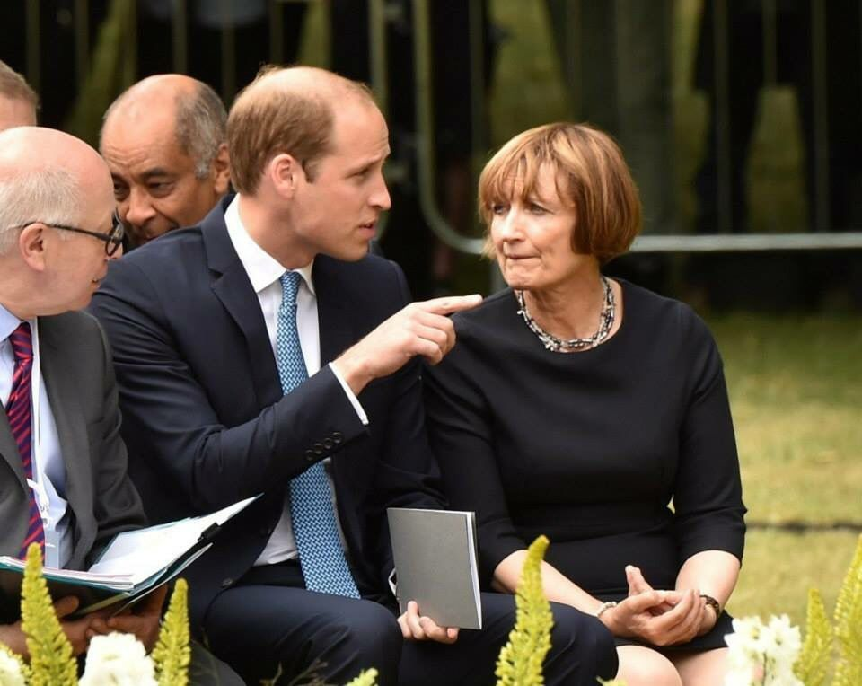 Prince William at the memorial of victims from July 7th 2005 bombing in Hyde Park