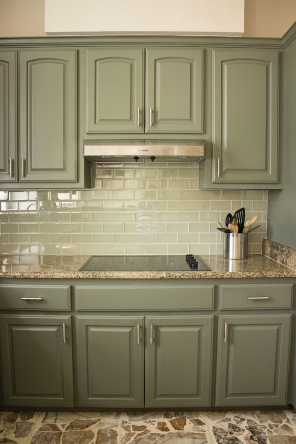 Kitchen Cabinet Paint Colors Kitchen cabinet paint color other than cream...all green??