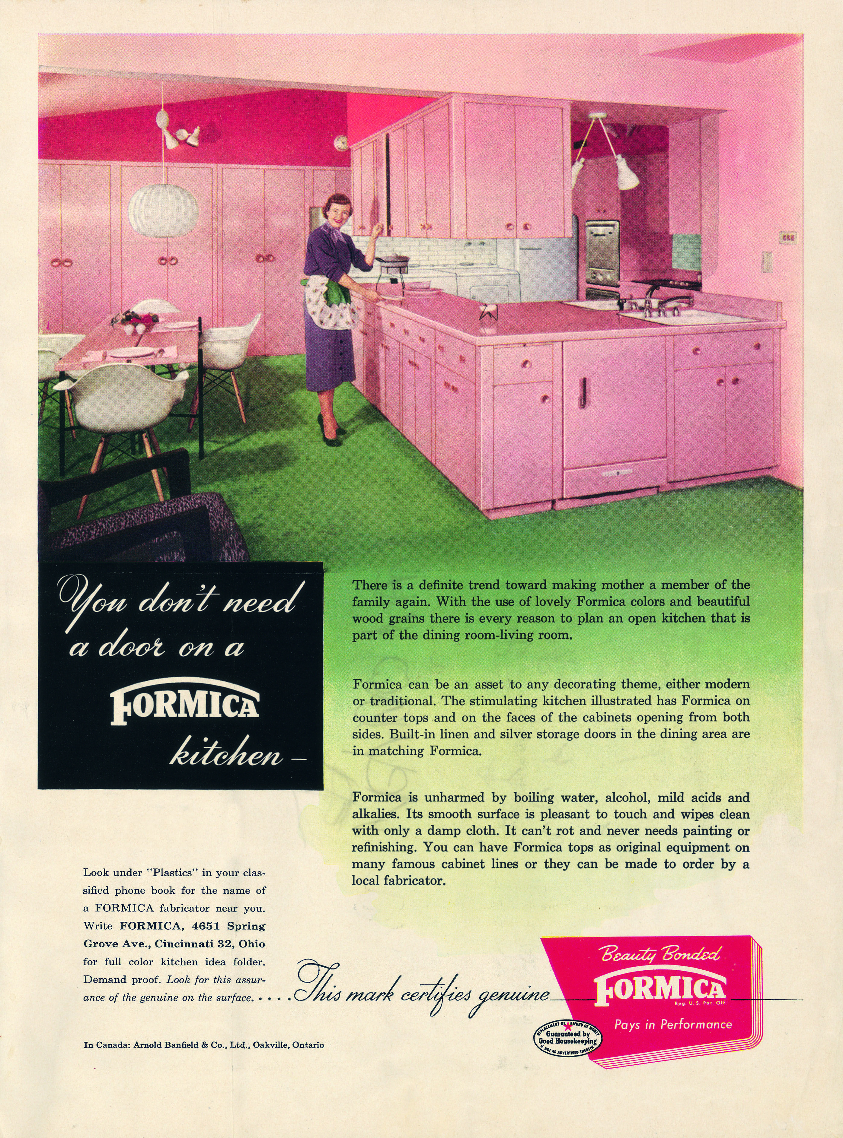 You Don T Need A Door On Formica Kitchen Vintage