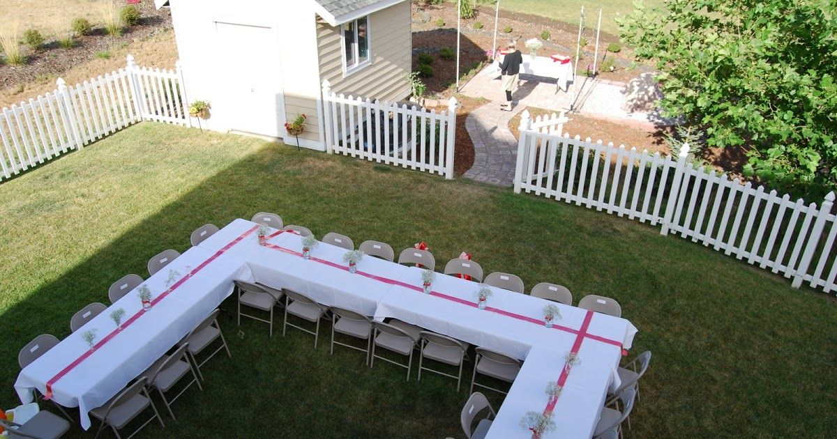 Our backyard being prepped for the rehearsal dinner!