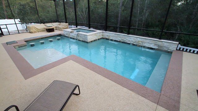 Beautiful Water Color Options Swimming Pool Finishes White