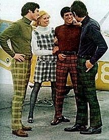 15d1e72d7 Turtle necks was a very popular look in the 60s. Also, patterned pants with  colors that would compliment the shirt. You can also see them wearing belts  too.