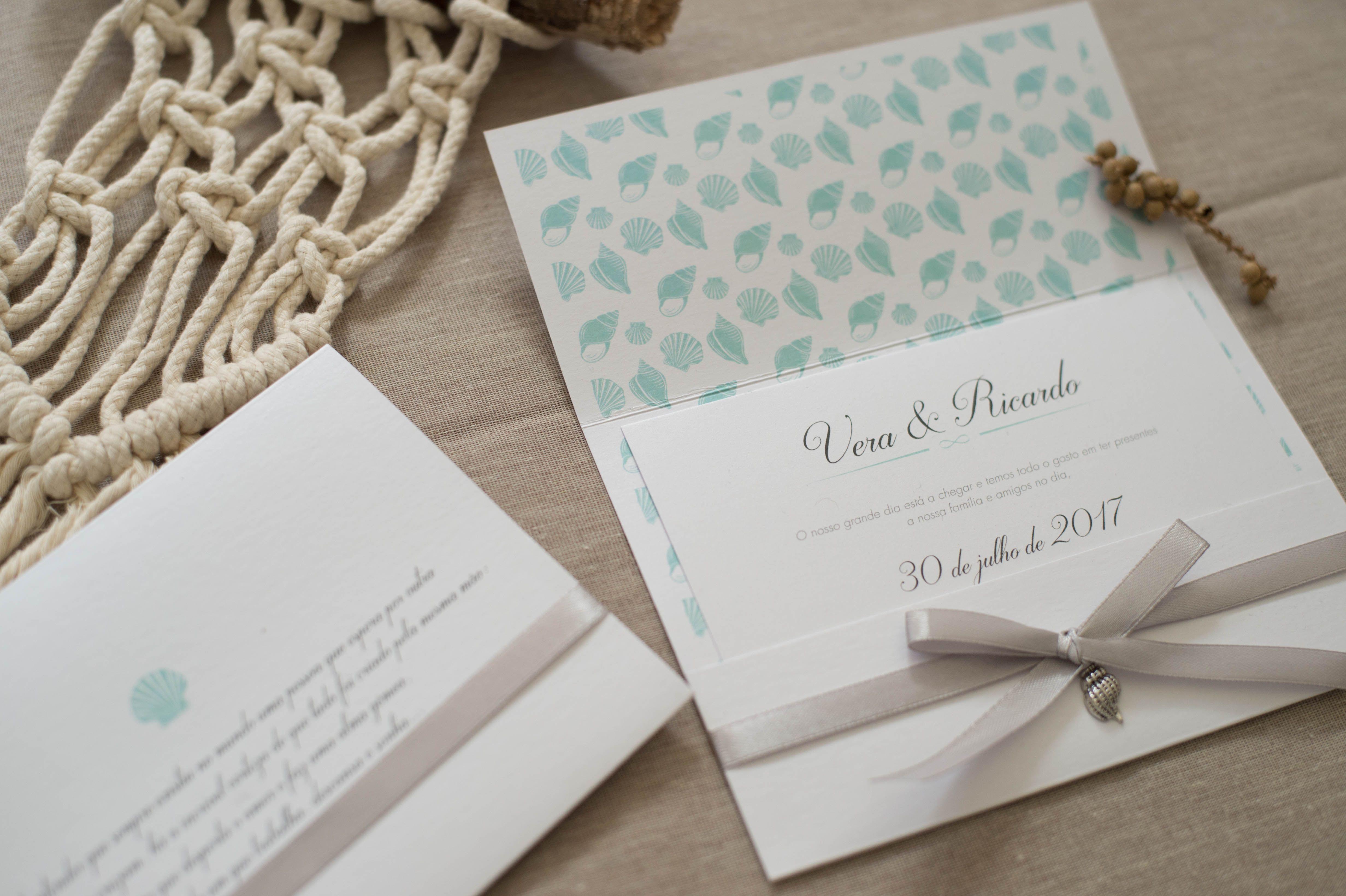 beach theme wedding invitations in tones of blue and grey | Wedding ...